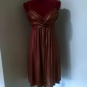NWT Kitty red/gold Cocktail Dress